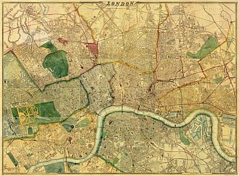 had previously published the map in 1863 declared that their large map of london as well as being the largest is universally admitted to be the best